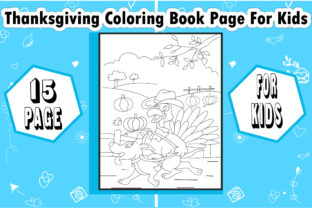 Thanksgiving Coloring Book Page for Kids - 3