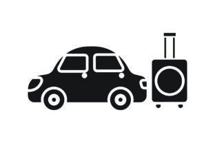 Travel Icon Car Suitcase Black Filled Graphic Icons By samanostudio