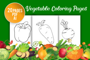 Vegetable Coloring Pages for Kids Graphic KDP Interiors By GRAPHICSMINE