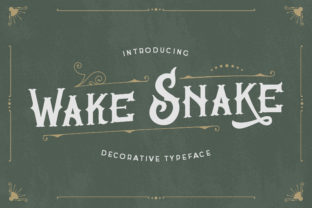 Print on Demand: Wake Snake Blackletter Font By TypeFactory