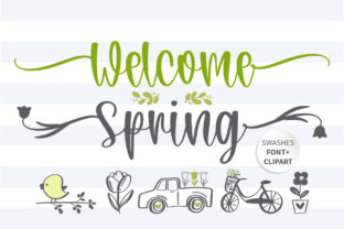 Print on Demand: Welcome Spring Script & Handwritten Font By BitongType