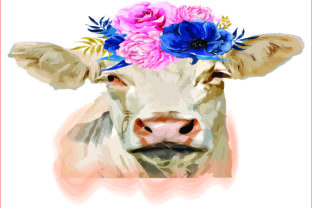 White Cow, Sublimation Graphics,clipart Graphic Graphic Templates By AlaBala