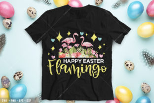 Happy Easter Flamingo Graphic Print Templates By Comfy Design