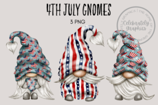 4th July Gnomes Graphic Illustrations By Celebrately Graphics