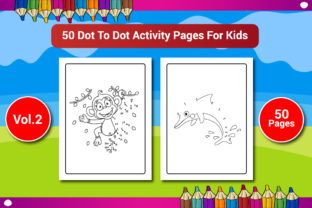 50 Dot to Dot Activity Pages for Kids Graphic KDP Interiors By Sharif54