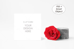 5″x5″ Card Mockup Graphic Product Mockups By thesundaychic