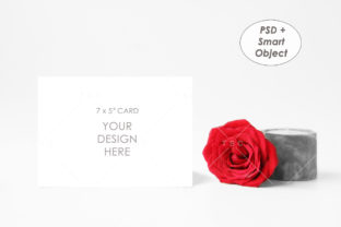 7″x5″ Card Mockup Graphic Product Mockups By thesundaychic