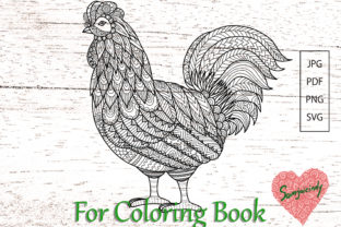 Abstract Chicken for Adult Coloring Boo Graphic Coloring Pages & Books Adults By somjaicindy
