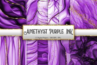 Print on Demand: Amethyst Purple Ink Glitter Background Graphic Backgrounds By PinkPearly