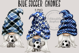 Blue Soccer Football Gnomes Clipart Graphic Illustrations By Celebrately Graphics