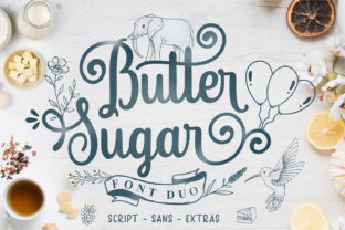 Print on Demand: Butter Sugar Script & Handwritten Font By Mozarella