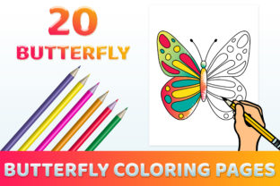 Print on Demand: Butterfly Coloring Pages for Kids PDF Graphic Coloring Pages & Books Kids By medelwardi