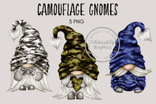 Camouflage Gnomes Graphic Illustrations By Celebrately Graphics