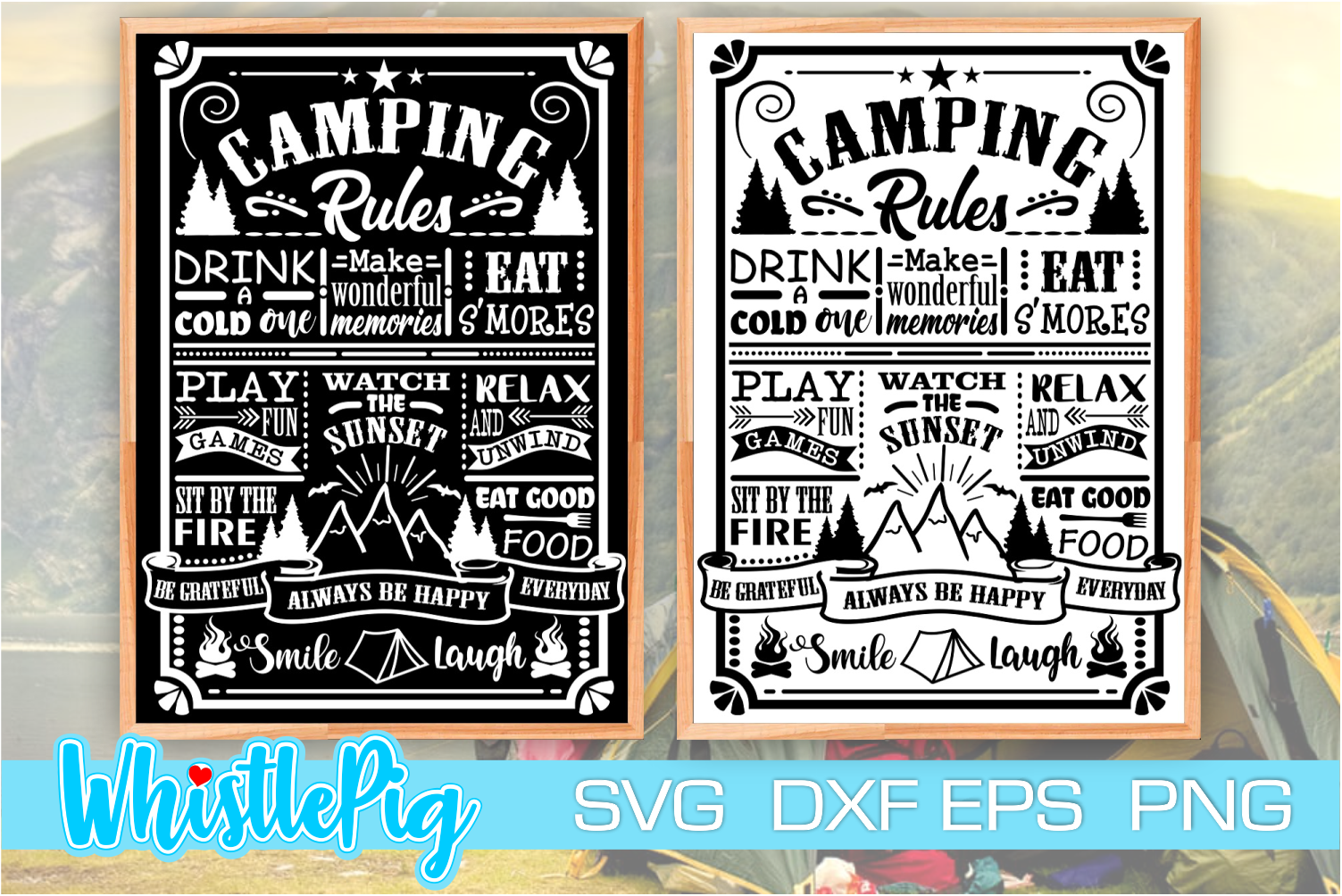 Camping Rules Camper Rules Camping Sign SVG File