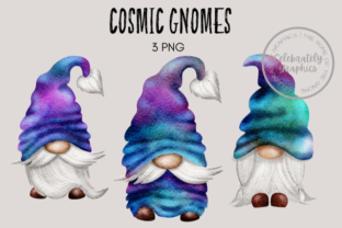 Cosmic Gnomes Clipart Graphic Illustrations By Celebrately Graphics