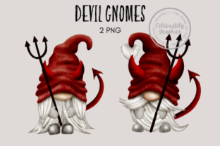 Devil Naughty Gnome Clipart Graphic Illustrations By Celebrately Graphics