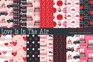 Digital Paper Love is in the Air Graphic Patterns By Sweet Shop Design