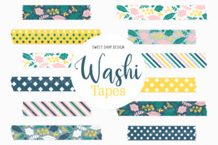 Digital Washi Tape Clipart FRESH FLORAL Graphic Illustrations By Sweet Shop Design