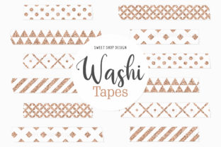 Digital Washi Tape GEOMETRIC GOLD Graphic Illustrations By Sweet Shop Design