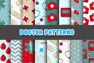 Print on Demand: Doctor Digital Papers Patterns Graphic Patterns By Grafixeo