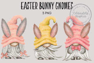 Easter Bunny Ears Gnome Clipart Graphic Illustrations By Celebrately Graphics