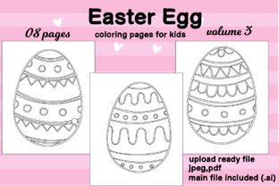 Print on Demand: Easter Egg Coloring Page Kids Kdp Vol.3 Graphic Coloring Pages & Books Kids By Day Dreamer