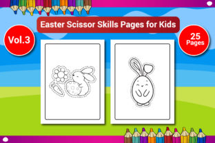 Easter Scissor Skills Pages for Kids Graphic KDP Interiors By Sharif54