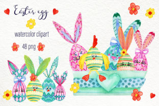Print on Demand: Easter Egg Scene Generator Watercolor Graphic Illustrations By ElenaZlataArt