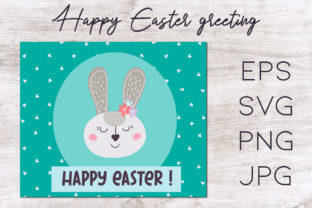 Print on Demand: Easter Greeting Card, Easter Clipart Grafik Illustrationen von Art's and Patterns