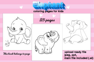 Print on Demand: Elephant Coloring Book for Kids Kdp Graphic Coloring Pages & Books Kids By Day Dreamer