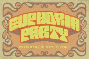 Print on Demand: Euphoria Party Display Font By putracetol