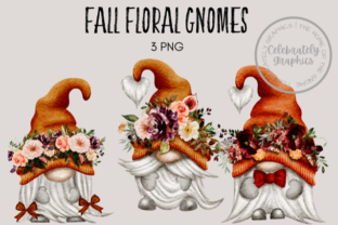 Fall Floral Autumn Gnomes Graphic Illustrations By Celebrately Graphics