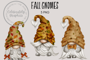 Fall Watercolor Gnome Clipart Graphic Illustrations By Celebrately Graphics