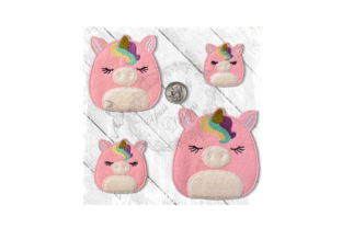 Fluffy Friend Unicorn Baby Animals Embroidery Design By Yours Truly Designs