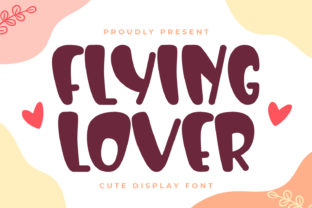 Print on Demand: Flying Lover Display Font By OKEVECTOR