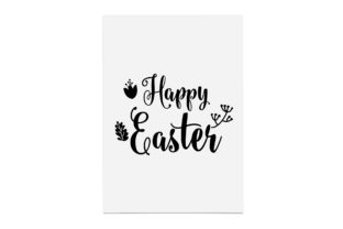 Print on Demand: Happy Easter, Handdrawn with Plant Decor Graphic Crafts By CarryBeautySVG