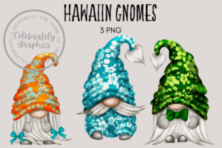 Hawaiin Gnome Clipart Graphic Illustrations By Celebrately Graphics