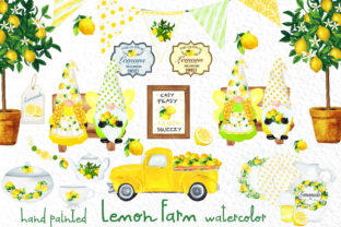 Print on Demand: Lemon Decor Clipart Lemon Sublimation Grafik Illustrationen von vivastarkids