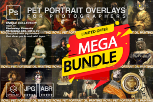 MEGA BUNDLE Royal Pet Portrait Templates Graphic Actions & Presets By 2SUNS