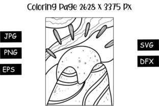 Print on Demand: Mountain View Coloring Page Graphic Coloring Pages & Books By stanosh