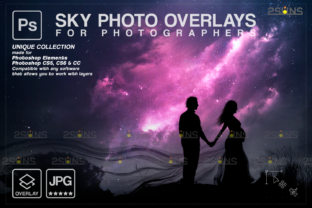 Night Sky Overlay  Night Sky Backdrop Graphic Actions & Presets By 2SUNS