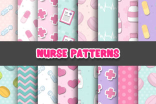 Print on Demand: Nurse Digital Papers Patterns Graphic Patterns By Grafixeo
