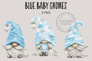 Pale Blue Baby Shower Gnomes Graphic Illustrations By Celebrately Graphics