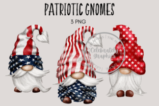 Patriotic Amercian Gnomes Graphic Illustrations By Celebrately Graphics
