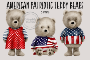 Patriotic Teddy Bear Clipart Graphic Illustrations By Celebrately Graphics