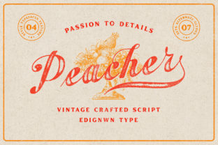 Print on Demand: Peacher Script & Handwritten Font By Edignwn Type