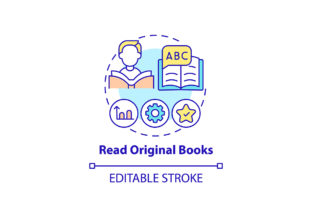 Print on Demand: Reading Original Books Concept Icon Graphic Icons By bsd studio