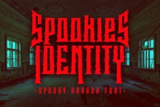 Print on Demand: Spookies Identity Display Font By putracetol