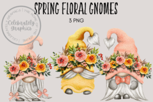 Spring Floral Easter Mothers Day Gnomes Graphic Illustrations By Celebrately Graphics
