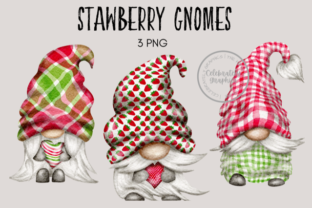Strawberry Gnomes Graphic Illustrations By Celebrately Graphics
